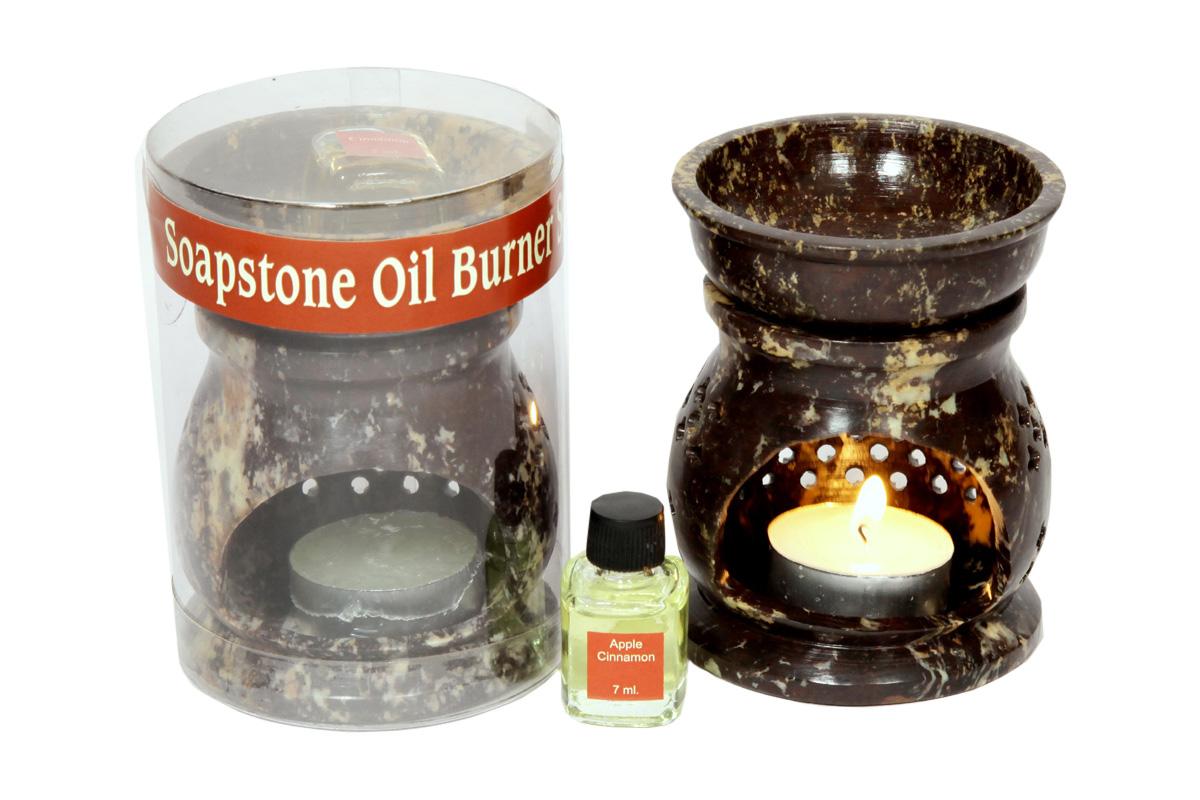 Soapstone Oil Burner-Room Refresher Set  (O-6006)