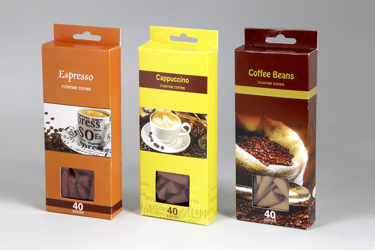 Coffee Range - 40 Incense Cone Packs (CFE - 5)