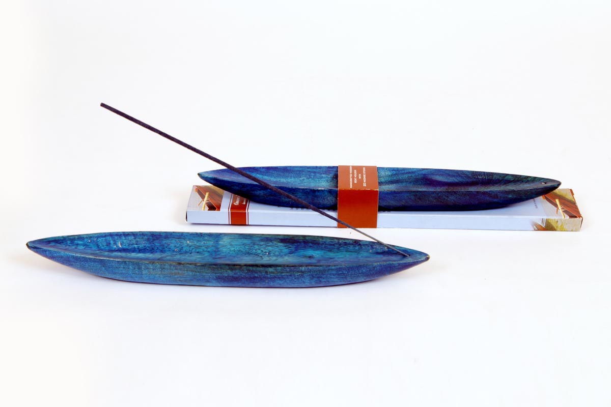 Ocean Range- Incense Stick and Wooden Boat Holder Set (OCN - 9)