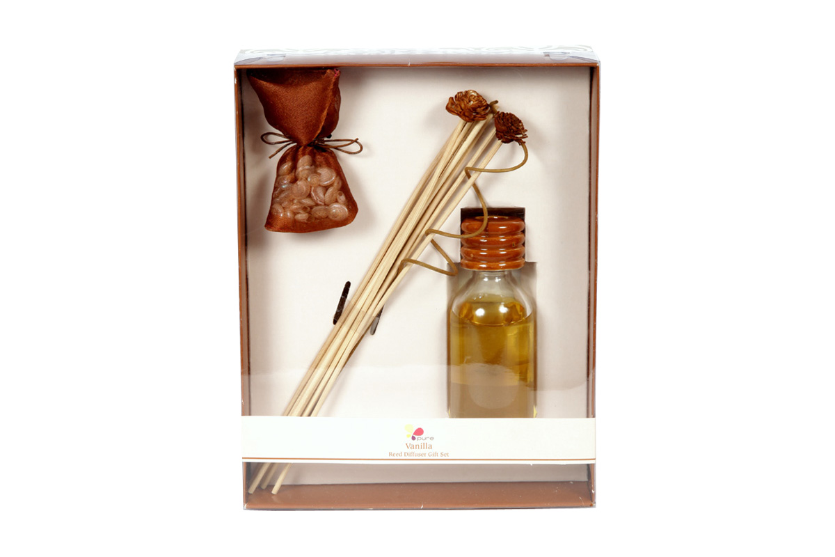 Vanilla-Reed Diffuser Set For Continous Fragrance Diffusion (R-5001/C)