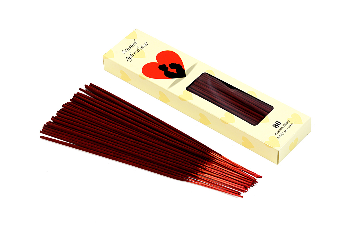 Sensual Aphrodisiac-80 Incense Sticks Pack (80's/B)