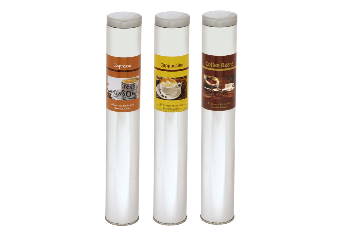 Coffee Range-40 Incense Stick Tin Cans (CFE - 1)