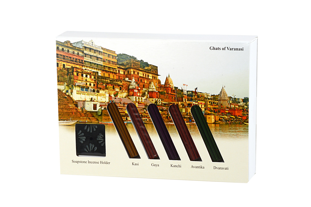 Ghats of Varanasi-Japanese Incense Sticks Gift Set (IGS - GHATS)