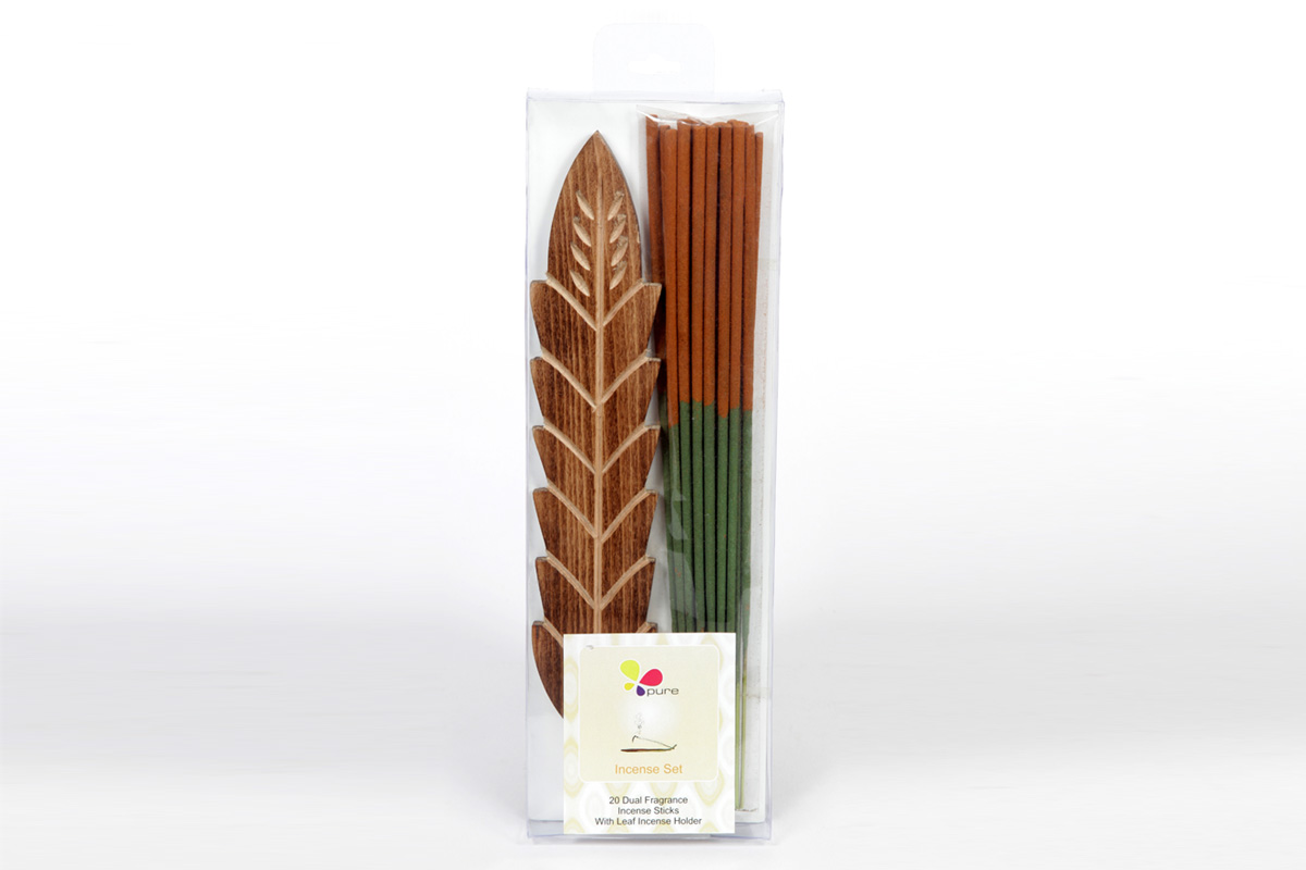 Dual Fragrance- Incense Stick & Holder Set (DUALF - 1)