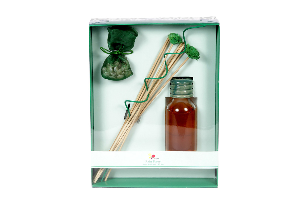 Rain Forest-Reed Diffuser Set For Continous Fragrance Diffusion (R-5001/F)