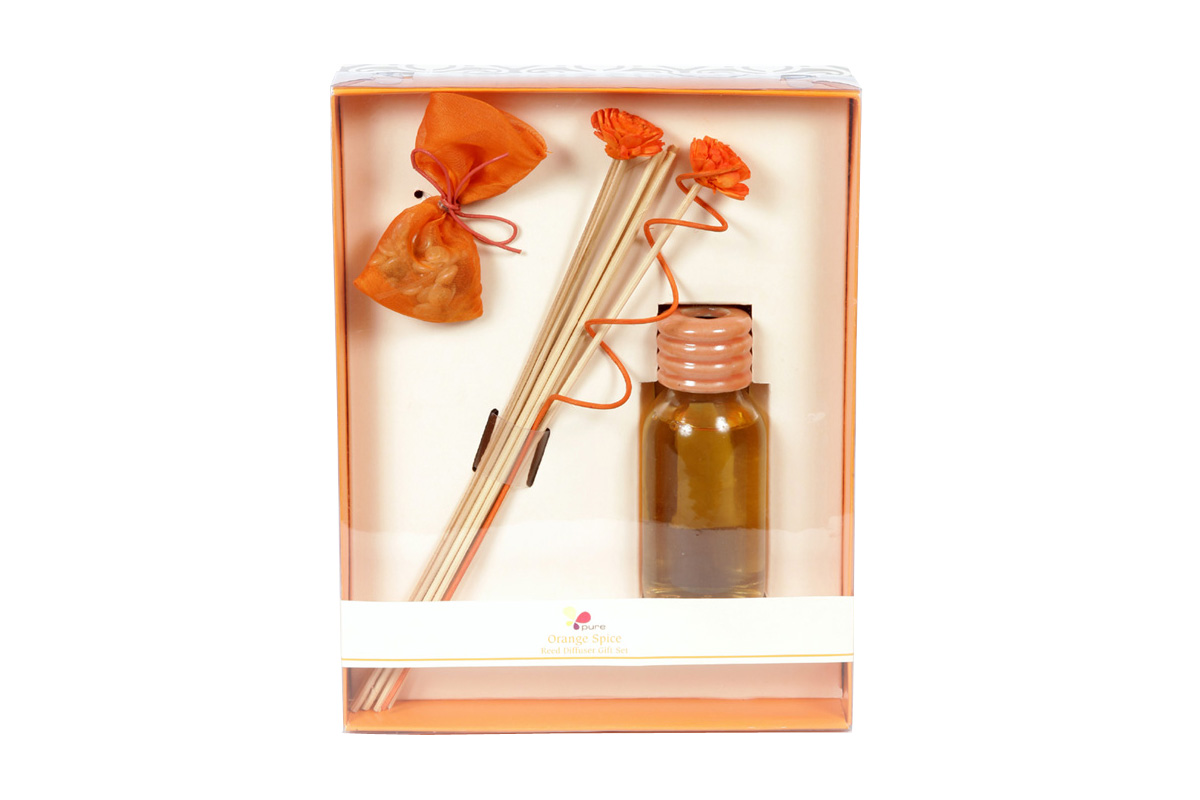Orange Spice-Reed Diffuser Set For Continous Fragrance Diffusion (R-5001/B)