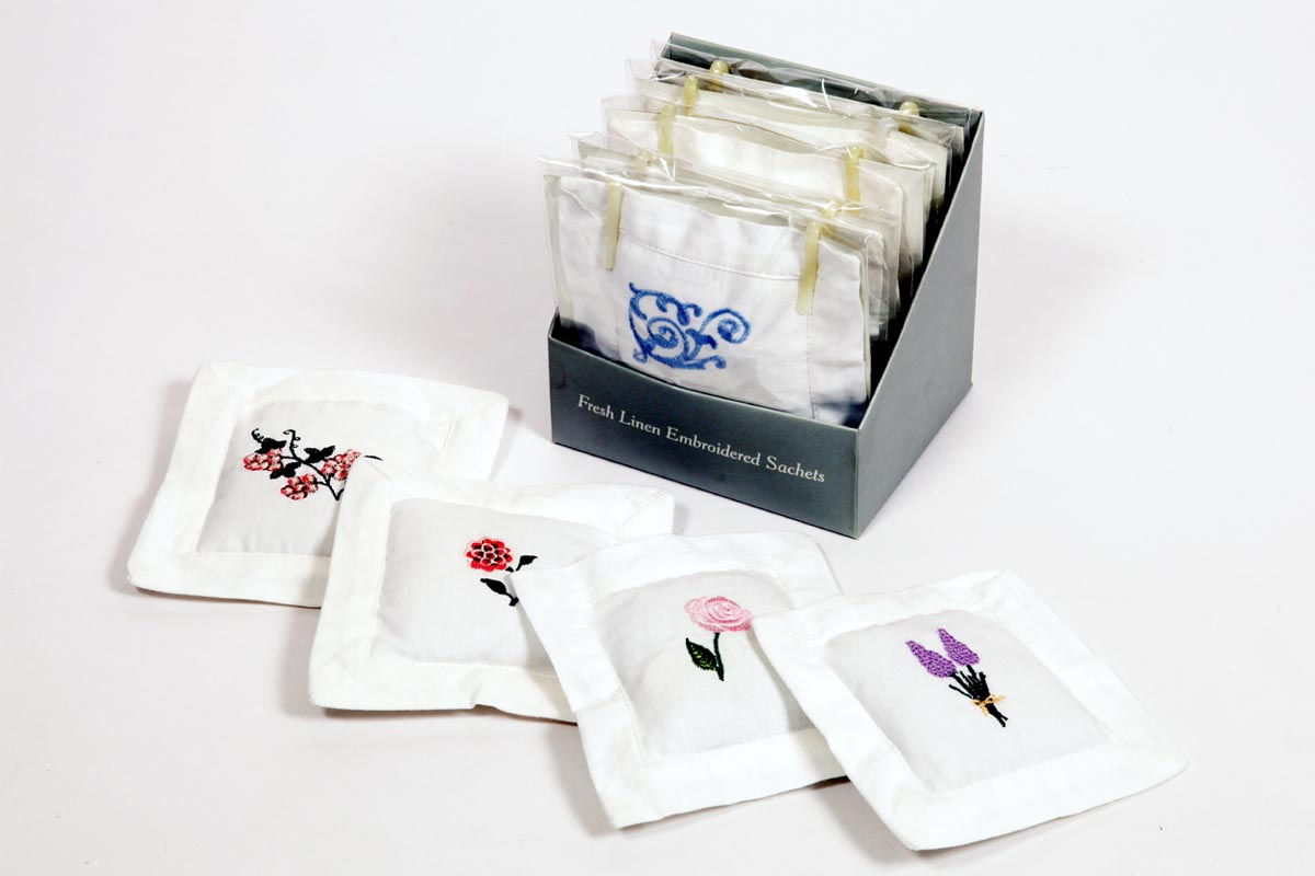 Embroidered -Scented Fabric Sachets (SHT - 3)