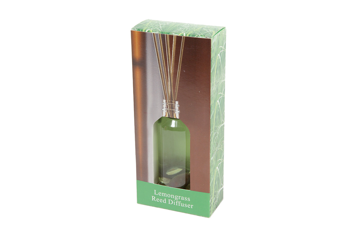 Lemongrass -Reed Diffuser Set For Continous Fragrance Diffusion (R-5008/A)