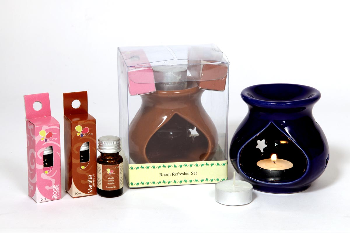 Ceramic Oil Burner- Room Refresher Set (O - 6023)