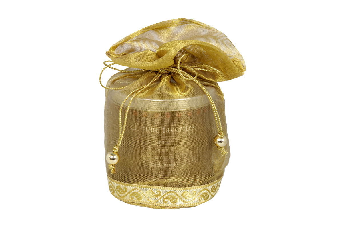All Time Favorites-40 Incense Cones Tin Can in a Decorative Tissue Bag  (A-1026/D)