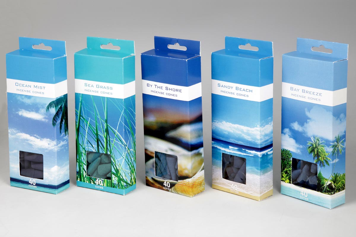 Ocean Range- 40 Incense Cone Packs (OCN - 3)