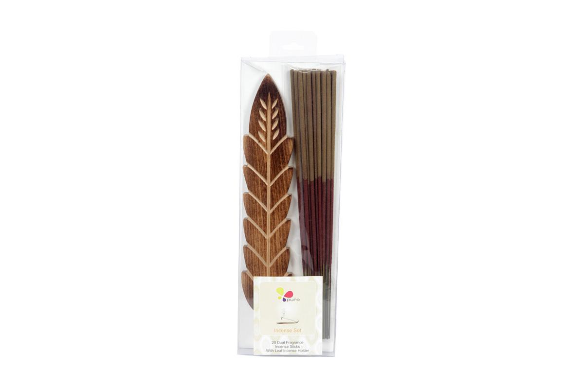 Spice & Patchouli-Dual Fragrance Incense Stick & Holder Set (DUALF-1/D)