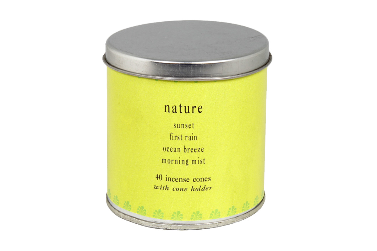 Nature-40 Incense Cones Tin Can (A-1023/C)