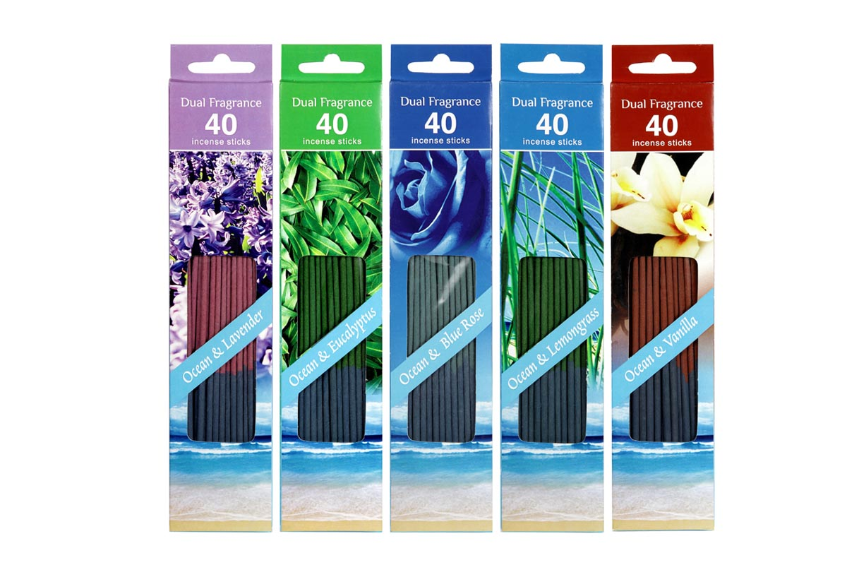 Ocean Range-40 Dual Incense Stick Packs (OCN - 8)