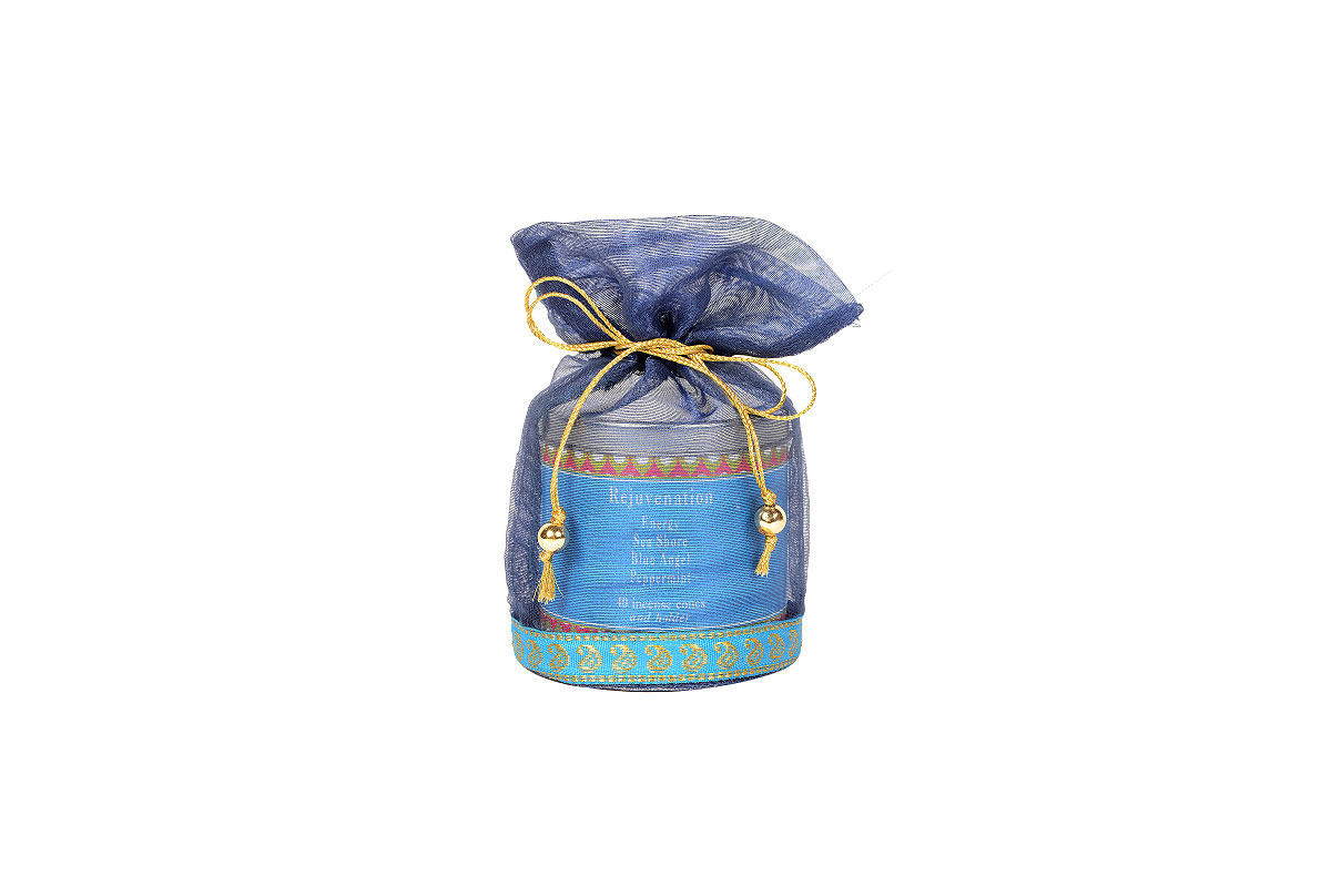 Rejuvenation-40 Incense Cones Tin Can in a Decorative Tissue Bag (A-1026N/E)