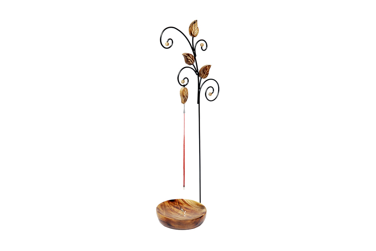 Decorative Hanging Incense Holder-Handcrafted Wooden Holder (HNGNG)