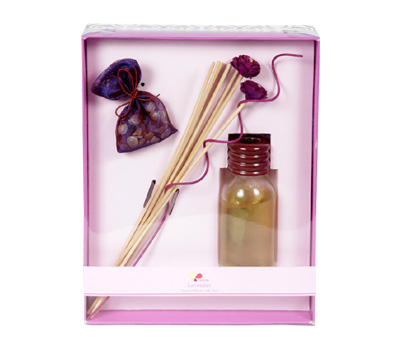 Lavender-Reed Diffuser Set For Continous Fragrance Diffusion (R-5001/E)