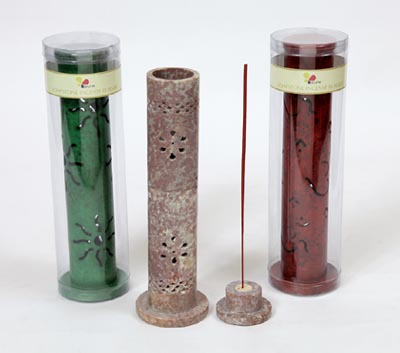 Soapstone Tower- Decorative Incense Stick Burners (SBRNR - 1)