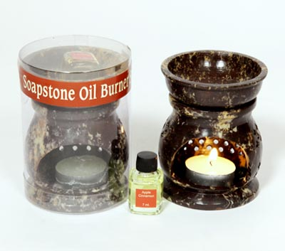 Soapstone Oil Burner- Room Refresher Set (O - 6006)