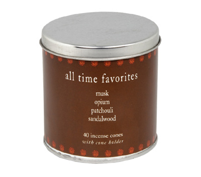 All Time Favorites-40 Incense Cones Tin Can (A-1023/D)