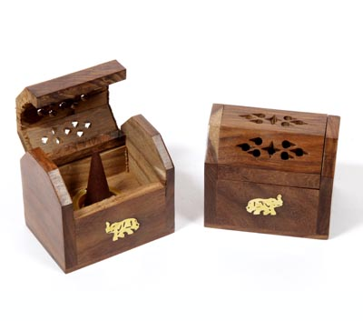 Wooden Incense Cone Box (WDN - 3)