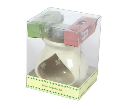Ceramic Oil Burner-Room Refresher Set (O-6023/B)