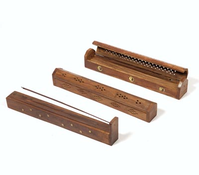 Wooden Incense Stick Box Burners (WDN - 5)