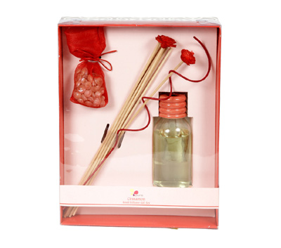 Cinnamon-Reed Diffuser Set For Continous Fragrance Diffusion (R-5001/A)