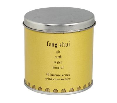 Feng Shui-40 Incense Cones Tin Can (A-1023/A)