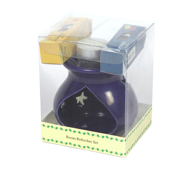 Ceramic Oil Burner -Room Refresher Set (O-6023/D)