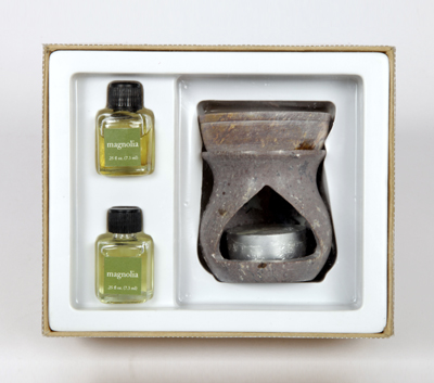 Soapstone Oil Burner -Room Refresher Set (O - 6001)