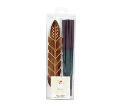 Ocean & Lavender-Dual Fragrance Incense Sticks & Holder Set (DUALF-1/C)