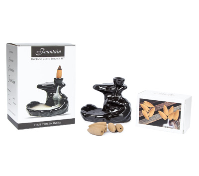 Fountain -Backflow Incense Cone Gift Set (RF/F)